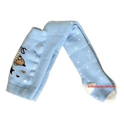 """Теплые колготки для новорожденных мальчиков тм""""Arti"""" Мишка голубые"""