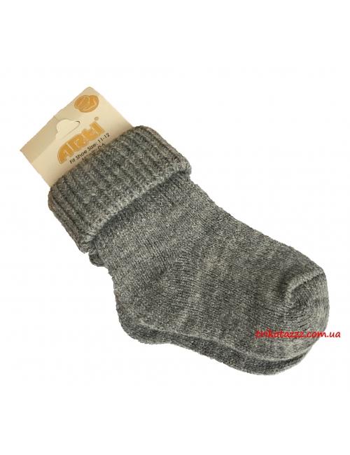 """Теплые носочки для новорожденных тм"""" Arti """" серые"""