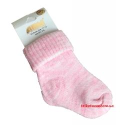 """Теплые носочки для новорожденных девочек тм"""" Arti """" розовые"""