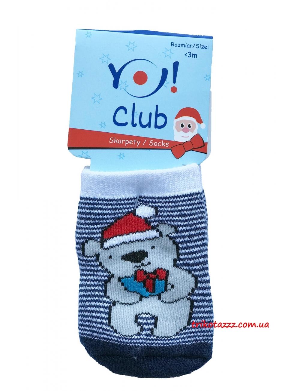 """Теплые носкочки для новорожденных Новогодние тм""""  Yo"""""""