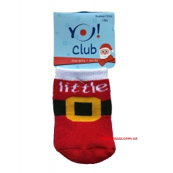 Теплые носкочки для новорожденных Новогодние тм