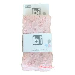 Колготки для новорожденных однотонные Bibaby розовые