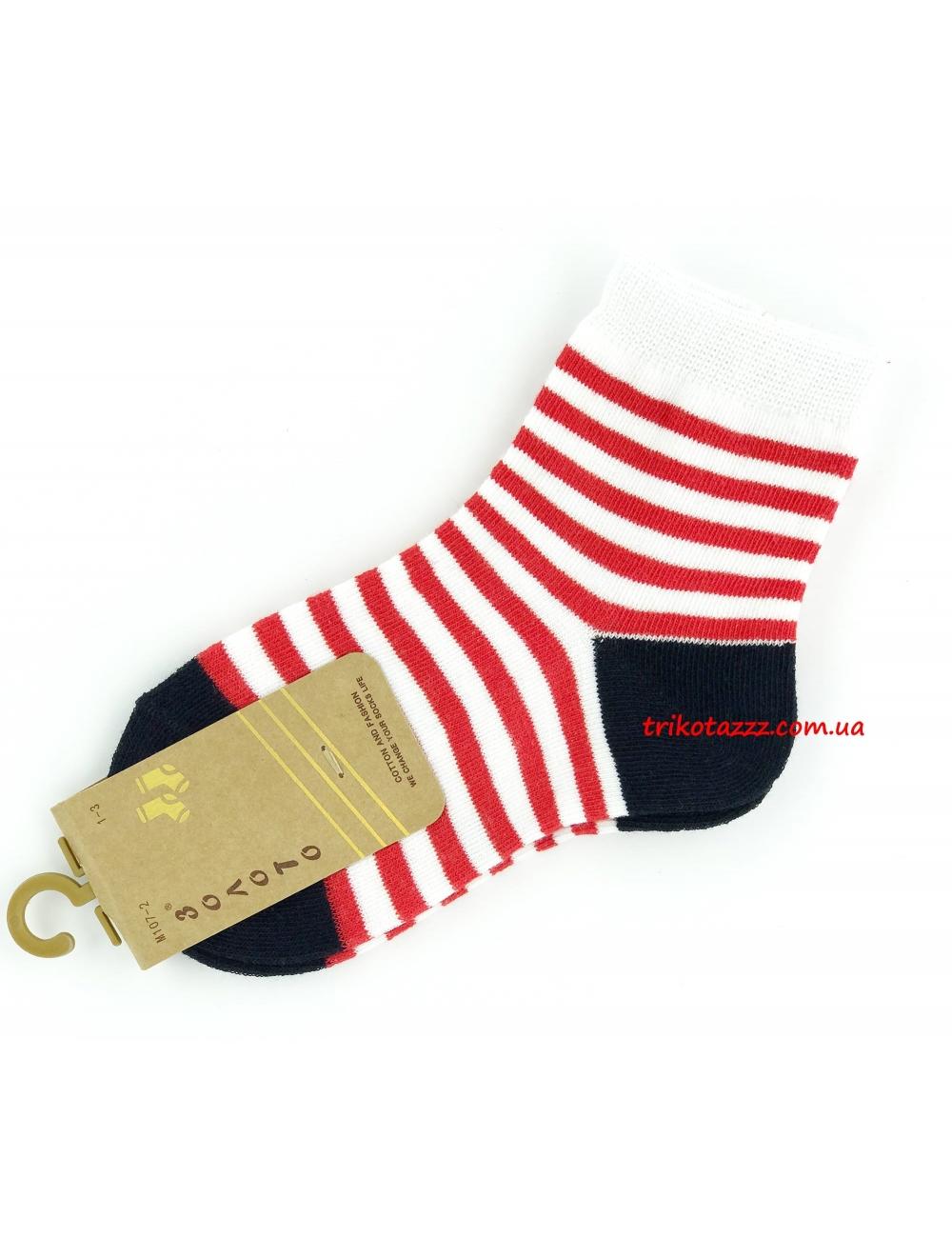 """Носки для мальчиков тм"""" Золото """" красная полоска"""