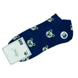 "Короткие носки тм"" Золото "" Собачка синие"