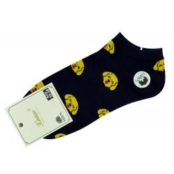 """Короткие носки тм"""" Золото """" Собачка черные"""