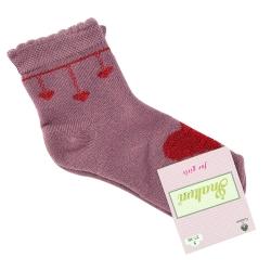 """Теплые носки для девочек тм""""Inaltun"""" розовые с сердцем"""