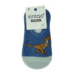 """Следы ( носки ) для мальчиков тм """" Xintao """" Дино синие"""