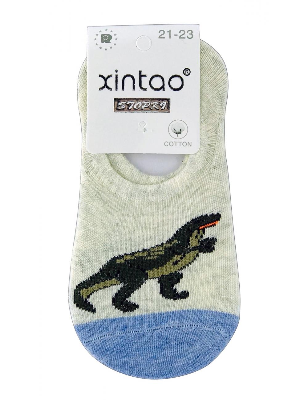 """Следы ( носки ) для мальчиков тм """" Xintao """" Дино бежевые"""